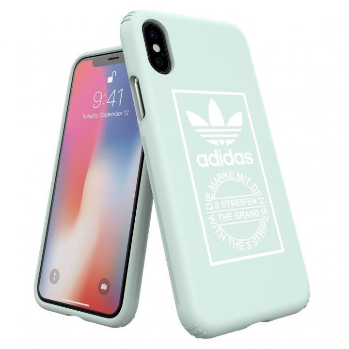 iPhone XS/X ケース adidas Originals TPU/ハードケース Ash Green iPhone XS/X_0