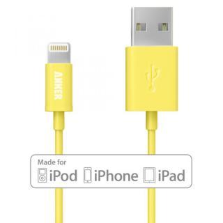 [90cm]Anker Lightning-USBケーブル Made for iPhone取得 イエロー
