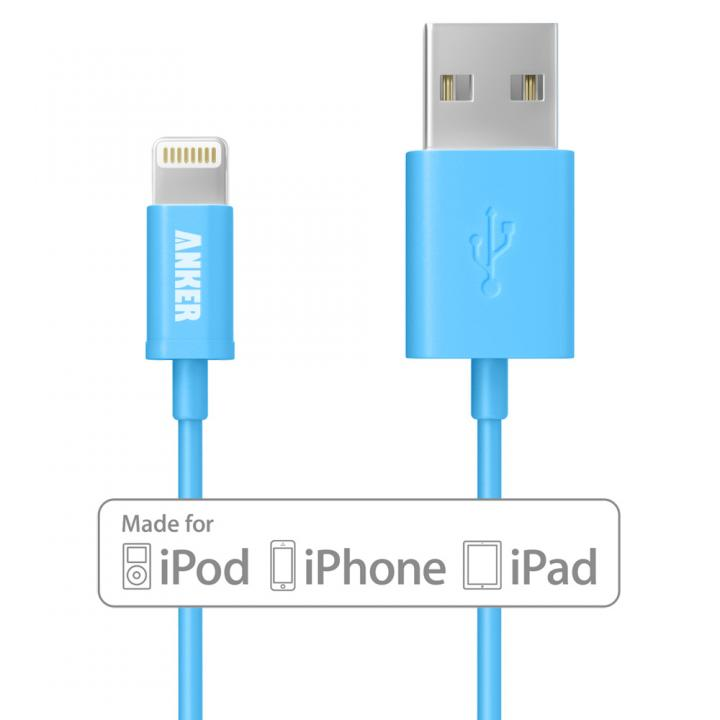 [90cm]Anker Lightning-USBケーブル Made for iPhone取得 ブルー_0