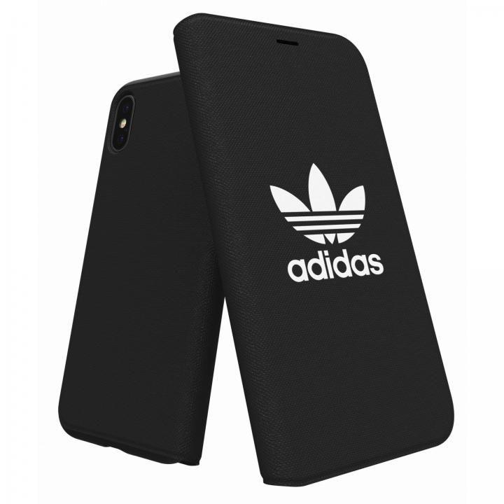 iPhone XS/X ケース adidas Originals Adicol 手帳型ケース iPhone XS/X ブラック_0