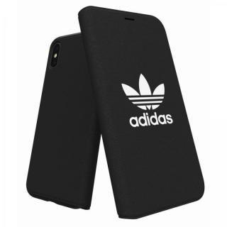 【iPhone X ケース】adidas Originals Adicol 手帳型ケース iPhone X ブラック