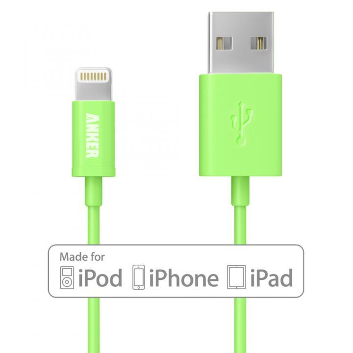 [90cm]Anker Lightning-USBケーブル Made for iPhone取得 グリーン