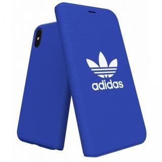 【iPhone X ケース】adidas Originals Adicol 手帳型ケース iPhone X ブルー