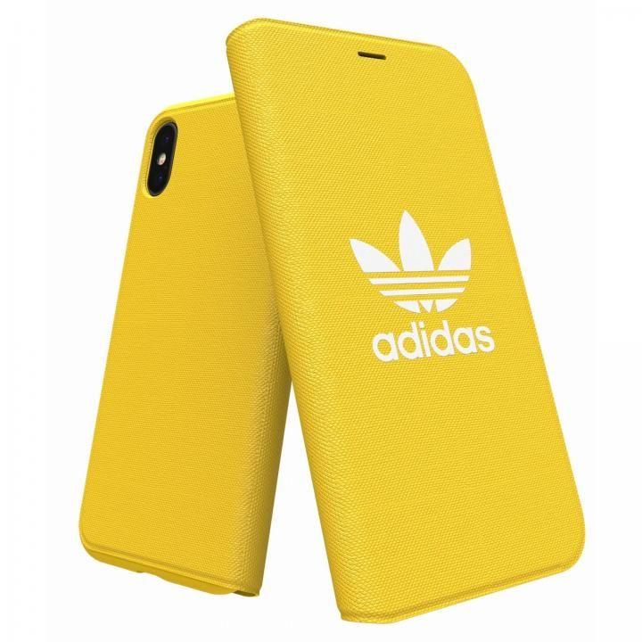 iPhone XS/X ケース adidas Originals Adicol 手帳型ケース iPhone XS/X イエロー_0