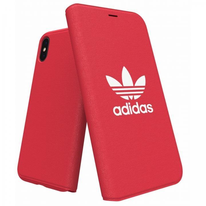 iPhone XS/X ケース adidas Originals Adicol 手帳型ケース iPhone XS/X レッド_0