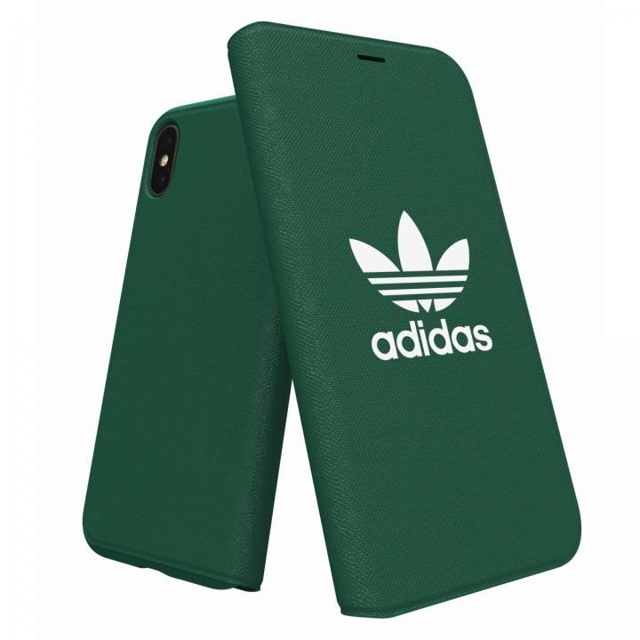 iPhone XS/X ケース adidas Originals Adicol 手帳型ケース iPhone XS/X グリーン_0