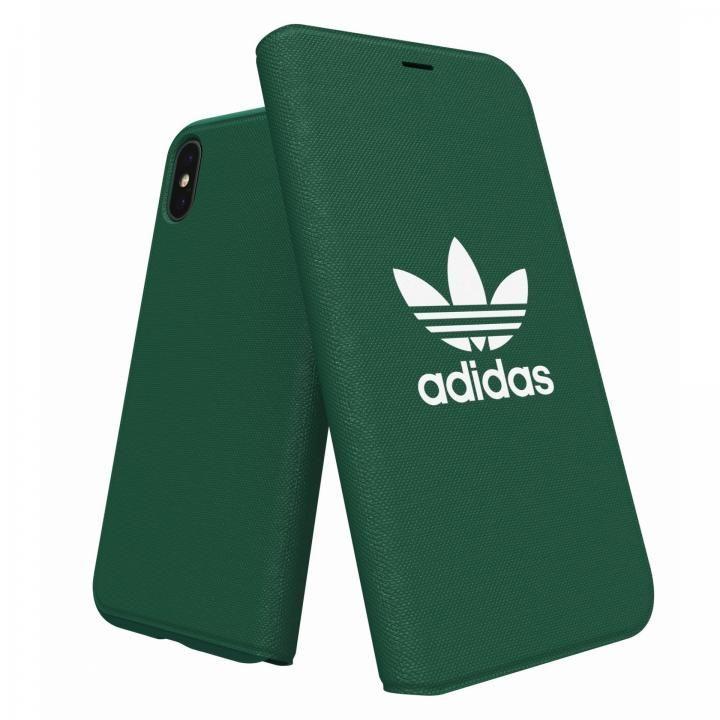 adidas Originals Adicol 手帳型ケース iPhone X グリーン