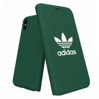 【iPhone XS/Xケース】adidas Originals Adicol 手帳型ケース iPhone XS/X グリーン