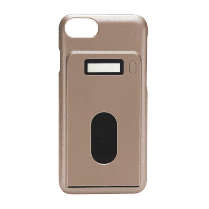 miruca evolution 電子マネー残高表示機能搭載ケース ゴールド iPhone 7/6s/6