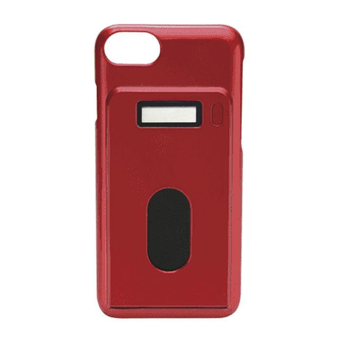 iPhone7/6s/6 ケース miruca evolution 電子マネー残高表示機能搭載ケース レッド iPhone 7/6s/6_0