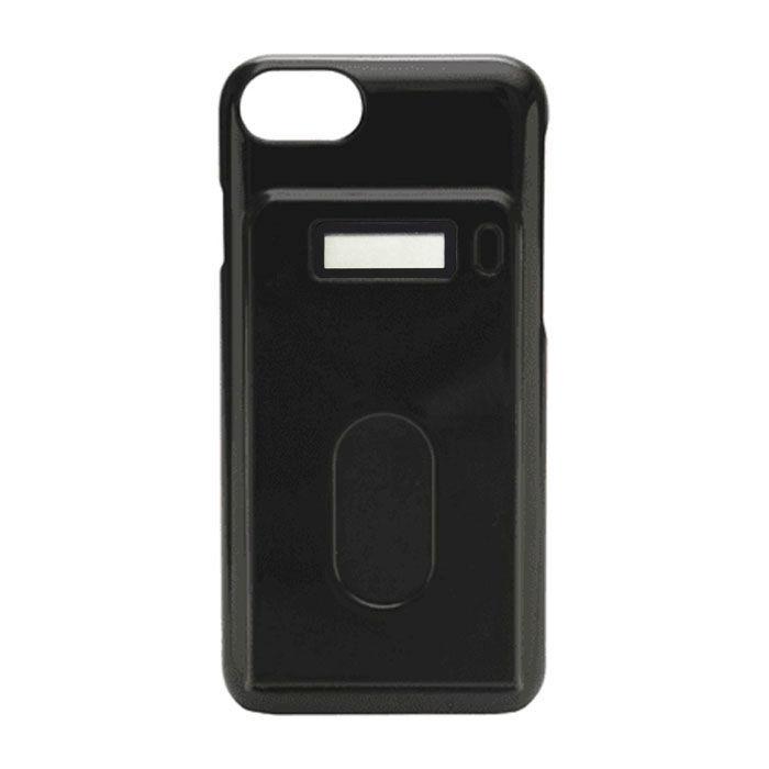[2018バレンタイン特価]miruca evolution 電子マネー残高表示機能搭載ケース ブラック iPhone 7/6s/6