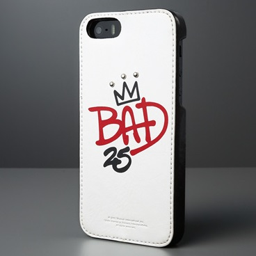 iPhone SE/5s/5 Michael Jackson BAD 25th Graffiti Bar ホワイト