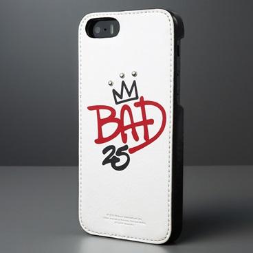 iPhone SE/5s/5 Michael Jackson BAD 25th Graffiti Bar ホワイト