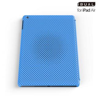 メッシュシェルケース iPad Air MAT BLUE(ブルー)