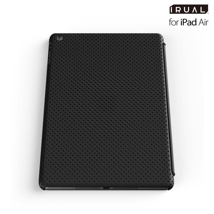 メッシュシェルケース iPad Air MAT BLACK(ブラック)_0