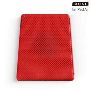メッシュシェルケース iPad Air MAT RED(レッド)