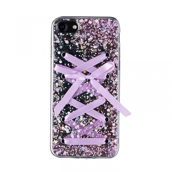 【iPhone8/7ケース】Gizmobies + SELECT LACE UP 背面ケース パープル iPhone 8/7_0