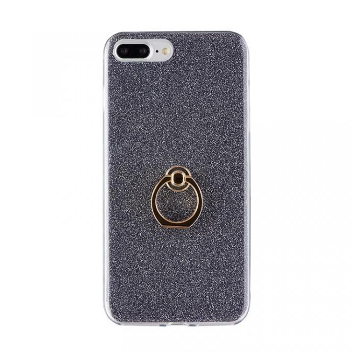 【iPhone8 Plus/7 Plusケース】Gizmobies + SELECT GLITTER リング付き背面ケースブラック iPhone 8 Plus/7 Plus_0