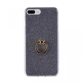 Gizmobies + SELECT GLITTER リング付き背面ケースブラック iPhone 8 Plus/7 Plus