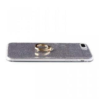 【iPhone8 Plus/7 Plusケース】Gizmobies + SELECT GLITTER リング付き背面ケースブラック iPhone 8 Plus/7 Plus_1
