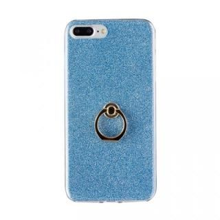 Gizmobies + SELECT GLITTER リング付き背面ケースブルー iPhone 8 Plus/7 Plus