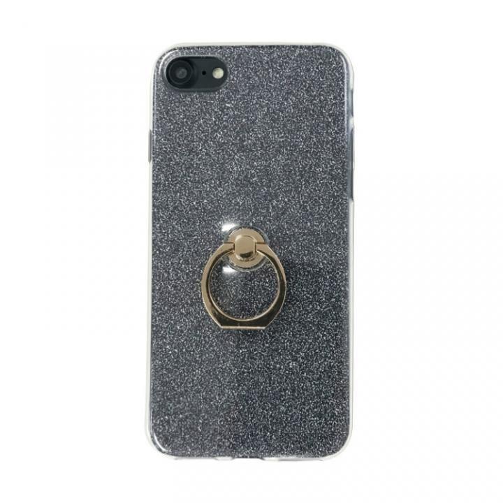 iPhone8/7 ケース Gizmobies + SELECT GLITTER リング付き背面ケースブラック iPhone 8/7_0
