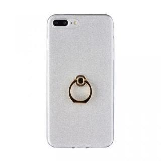 Gizmobies + SELECT GLITTER リング付き背面ケースシルバー iPhone 8 Plus/7 Plus