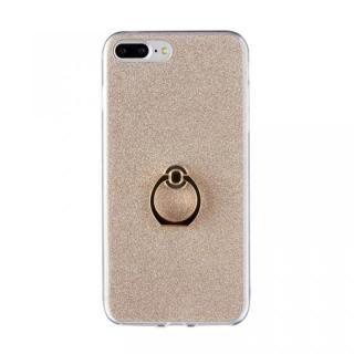 Gizmobies + SELECT GLITTER リング付き背面ケースゴールド iPhone 8 Plus/7 Plus