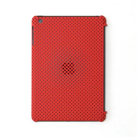 MESH SHELL CASE  iPad mini/2/3 Mat Red