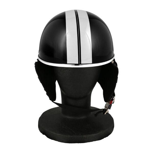 バイク用品 ハーフヘルメット ゴーグル無し 約57~60cm未満 クールブラック_0