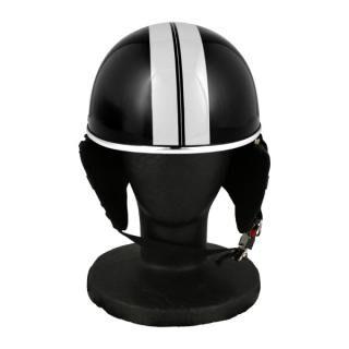 バイク用品 ハーフヘルメット ゴーグル無し 約57~60cm未満 クールブラック