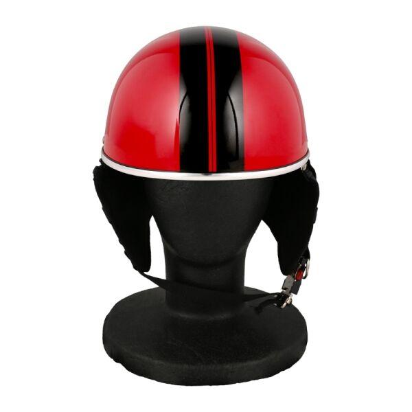 バイク用品 ハーフヘルメット ゴーグル無し 約57~60cm未満 ピュアレッド_0