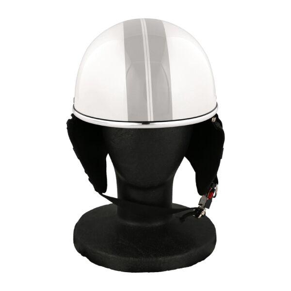 バイク用品 ハーフヘルメット ゴーグル無し 約57~60cm未満 パールホワイト_0
