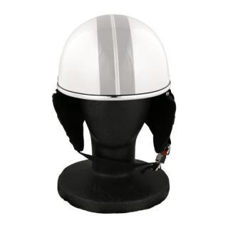 バイク用品 ハーフヘルメット ゴーグル無し 約57~60cm未満 パールホワイト