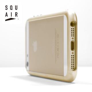 金属とは思えない触り心地 SQUAIR Curvacious Bumper  iPhone SE/5s/5バンパー ゴールド