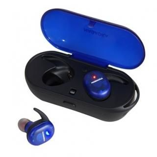 ナガオカ Bluetooth5.0対応 スケルトン完全ワイヤレスイヤホン ブルー