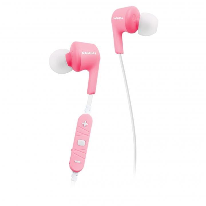 ナガオカ AAC対応 Bluetoothイヤホン BT807シリーズ ピンク【6月下旬】_0