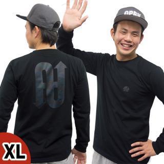 [2017年歳末特価]UPBK ロングTシャツ ブラック XLサイズ