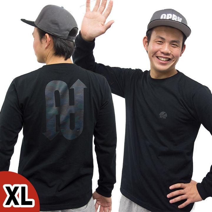 [2018年新春特価]UPBK ロングTシャツ ブラック XLサイズ