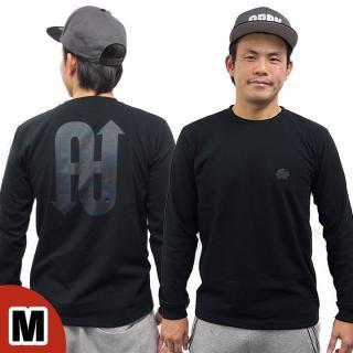 [2018年新春特価]UPBK ロングTシャツ ブラック Mサイズ