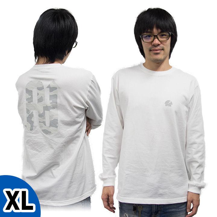 [新iPhone記念特価]UPBK ロングTシャツ ホワイト XLサイズ