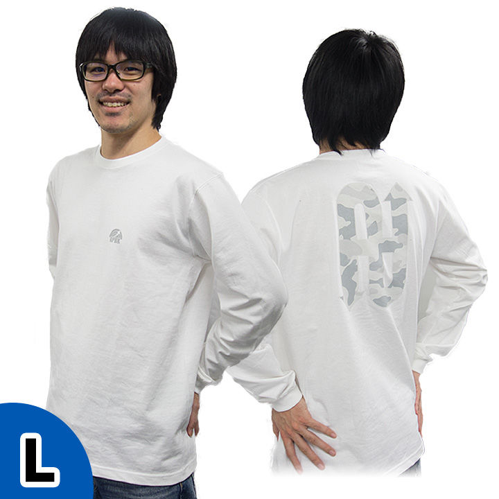 UPBK ロングTシャツ ホワイト Lサイズ_0