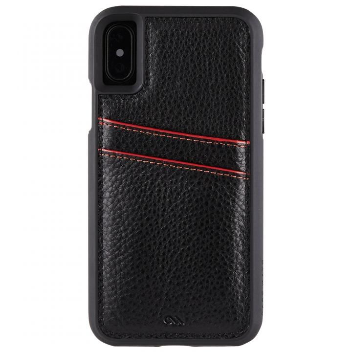 【iPhone XS/Xケース】Case-Mate Tough カードポケットケース ブラック iPhone XS/X_0
