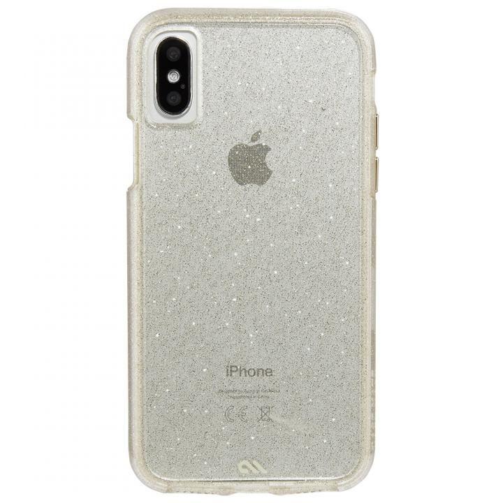 Case-Mate シャンパンゴールドラメケース iPhone X