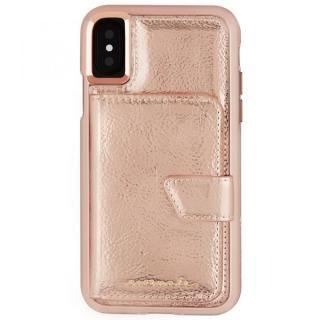Case-Mate コンパクトミラーケース ローズゴールド iPhone X