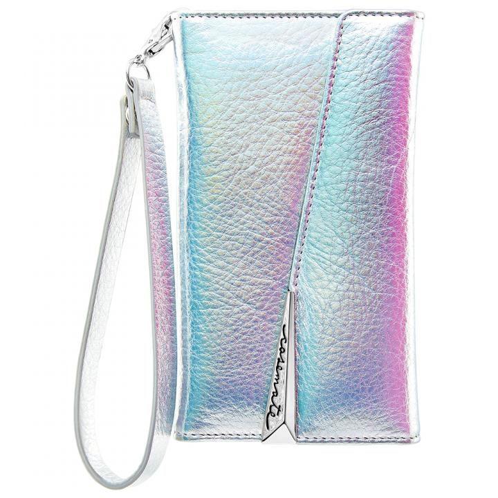【iPhone XS/Xケース】Case-Mate Leather Wristlet Folio ケース シルバー iPhone XS/X_0