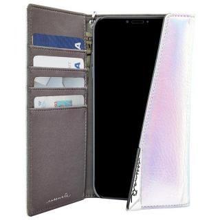 【iPhone XS/Xケース】Case-Mate Leather Wristlet Folio ケース シルバー iPhone XS/X_2