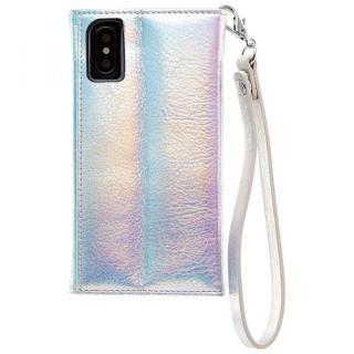 【iPhone XS/Xケース】Case-Mate Leather Wristlet Folio ケース シルバー iPhone XS/X_3