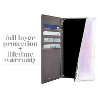 【iPhone XS/Xケース】Case-Mate Leather Wristlet Folio ケース シルバー iPhone XS/X_4