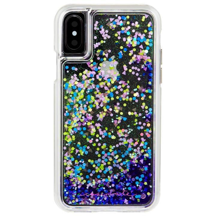 【iPhone XS/Xケース】Case-Mate Waterfallケース グローパープル iPhone XS/X_0